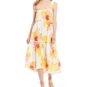 Free People Moonshine Floral Tiered Midi Dress